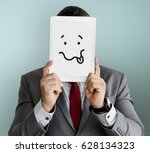 drawing facial expressions... | Shutterstock . vector #628134323