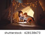 reading and family games in... | Shutterstock . vector #628138673