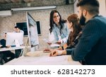 corporate team working... | Shutterstock . vector #628142273