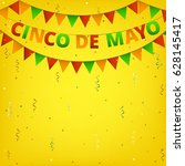 cinco de mayo colorful bunting... | Shutterstock .eps vector #628145417