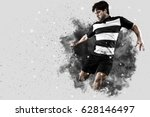 rugby player with a black... | Shutterstock . vector #628146497