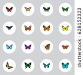 realistic milkweed  morpho... | Shutterstock .eps vector #628152323
