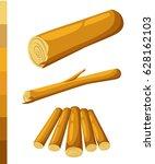 wooden logs brown bark of...   Shutterstock .eps vector #628162103