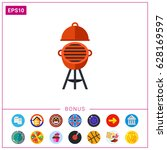 oven barbecue icon | Shutterstock .eps vector #628169597