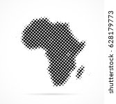 africa map in halftone. dotted... | Shutterstock .eps vector #628179773