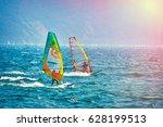 riva del garda  italy  lago... | Shutterstock . vector #628199513