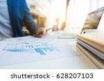 business man working at office... | Shutterstock . vector #628207103