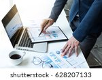 business man working at office... | Shutterstock . vector #628207133