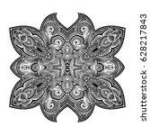 stylized black vector... | Shutterstock .eps vector #628217843