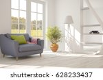 white room with sofa and green... | Shutterstock . vector #628233437