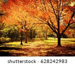 autumn landscape | Shutterstock . vector #628242983