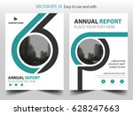 green abstract triangle annual... | Shutterstock .eps vector #628247663