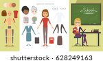 teacher character constructor... | Shutterstock .eps vector #628249163