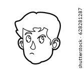 character face head boy kid...