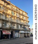 Small photo of ALGIERS, ALGERIA - APRIL 08, 2017: French colonial buildings in Algiers Algeria.Buildings are being renovated by Algerian government