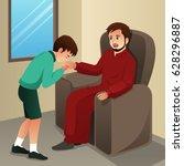 a vector illustration of muslim ... | Shutterstock .eps vector #628296887