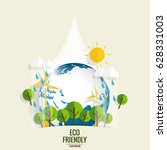eco friendly. ecology concept... | Shutterstock .eps vector #628331003
