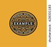 modern emblem  badge  monogram... | Shutterstock .eps vector #628331183