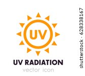 uv radiation vector icon | Shutterstock .eps vector #628338167