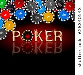 poker chips. icon for your... | Shutterstock .eps vector #628340543