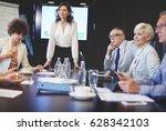 senior business people... | Shutterstock . vector #628342103