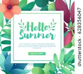 template design square banner... | Shutterstock .eps vector #628356047