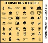 technology innovation icons set.... | Shutterstock .eps vector #628356113