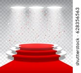 white round blank podium with... | Shutterstock .eps vector #628356563