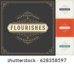 royal logo design template... | Shutterstock .eps vector #628358597