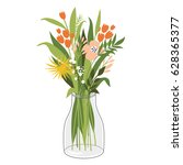 bouquet of flowers | Shutterstock .eps vector #628365377