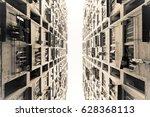 residential buildings in hong... | Shutterstock . vector #628368113