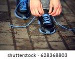 female sport sneakers  black... | Shutterstock . vector #628368803