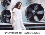 streetstyle  fashion. young... | Shutterstock . vector #628392233