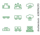 platform icons set. set of 9... | Shutterstock .eps vector #628396193
