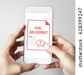 faq frequently asked questions... | Shutterstock . vector #628399247