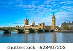 big ben and westminster... | Shutterstock . vector #628407203