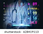 Stock photo vital sign monitoring concept d rendering abstract mixed media 628419113