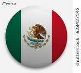 round glossy button with flag... | Shutterstock .eps vector #628427543