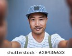 portrait of a stylishly dressed ... | Shutterstock . vector #628436633