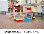 children's playground in the... | Shutterstock . vector #628437743