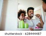 portrait of an african american ... | Shutterstock . vector #628444487