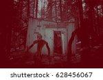 silhouette of a evil creature... | Shutterstock . vector #628456067