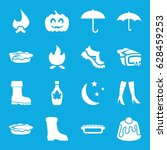 seasonal icons set. set of 16... | Shutterstock .eps vector #628459253