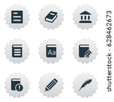 vector illustration set of... | Shutterstock .eps vector #628462673