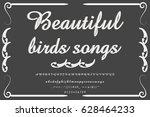 font script typeface sailing... | Shutterstock .eps vector #628464233