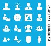 avatar icons set. set of 16... | Shutterstock .eps vector #628468427