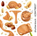 Peanut Butter. 3d Vector Icon...