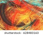 bright artistic splashes.... | Shutterstock . vector #628483163