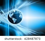 best internet concept of global ... | Shutterstock . vector #628487873