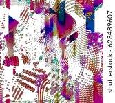 bstract vector background dot... | Shutterstock .eps vector #628489607